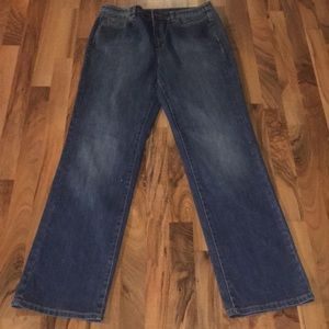 Blue Talbots Size 12 Long Stretch Jeans